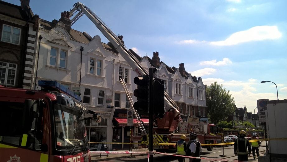 fire crews called to west hampstead blaze