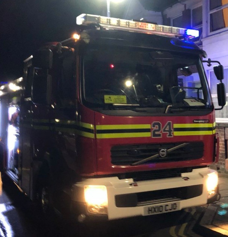 Hampshire Fire Crews Called To Tackle Late Night Property Fire In Southsea