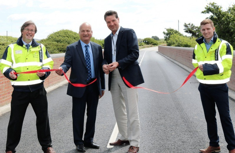 historic bridge on the isle of wight is officially opened following restoration and repairs