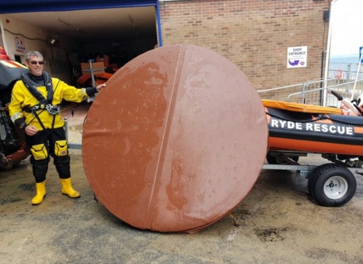hot tub cover sparks lifeboat launch in ryde