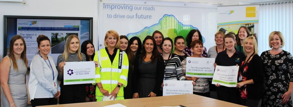 island road show off diverse workforce as part of international women in engineering day