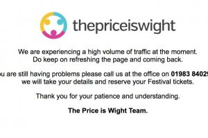 isle of wight festival ticket website crashes