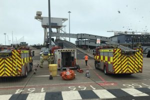 kent fire crews called to the port of dover following chemical incident