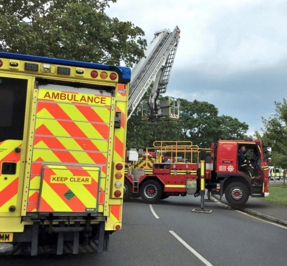 man treated for smoke inhalation after fire rips through southsea property