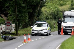 motorcyclist left fighting for their life following collision near newchurch