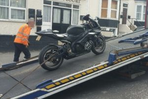 nuisance motorbike seized in margate