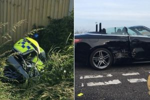 Police Motorcyclist Taken To Hospital After  Crashing Whilst On Training Course In Kent