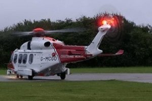 sailor airlifted by coastguard helicopter to qa hospitial portsmouth