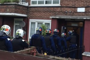seven arrested in dawn raids across london suffolk and essex