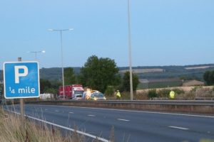 a2 closed for over ten hours following fatal collision involving an hgv and road sweeper