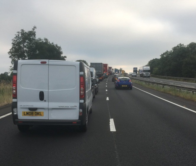 a34 closed following serious collision