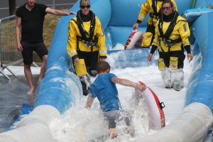 bit of action from the 200 metre ryde slide