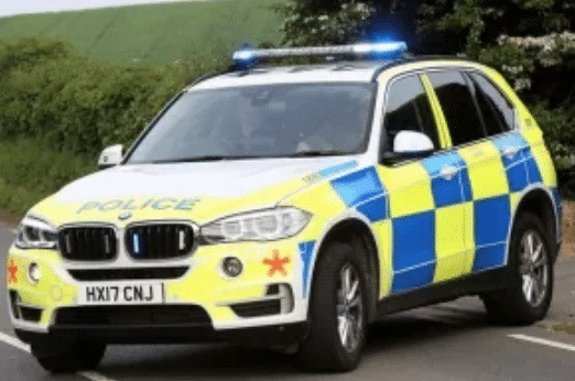 car on its roof closes middle road near calbourne mill on the isle of wight