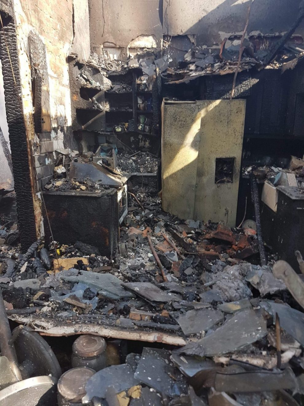 charred remains after fire rips though bungalow on the isle of wight