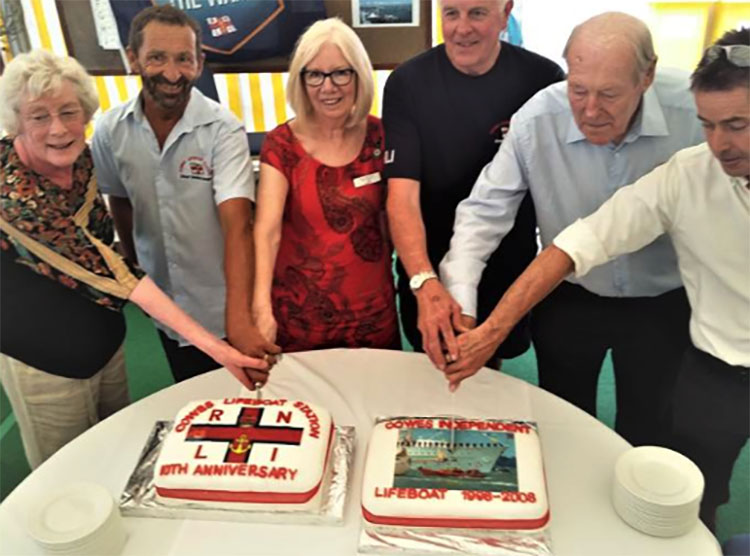 double celebration for cowes lifeboat service