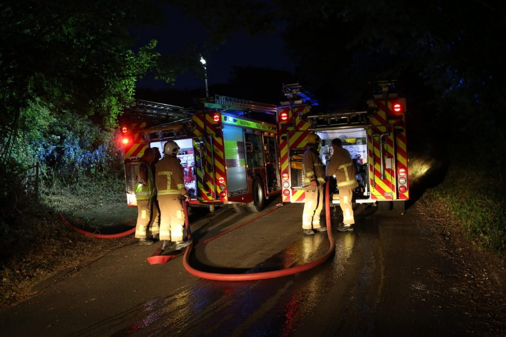 emergency services called to fire in the open in newport