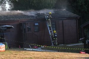 fire breaks out at chalet in gurnard pines