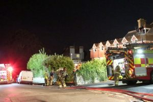 fire crews abandon birthday party to attend care home a blaze sandown