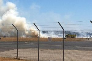 fire crews called to tackle fire at bournemouth airport