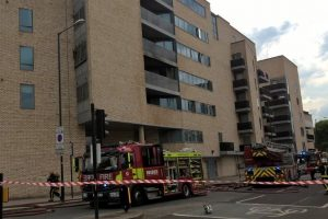 fire crews called to tackle flat fire in maida vale