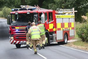 fire crews called to wootton woodland blaze