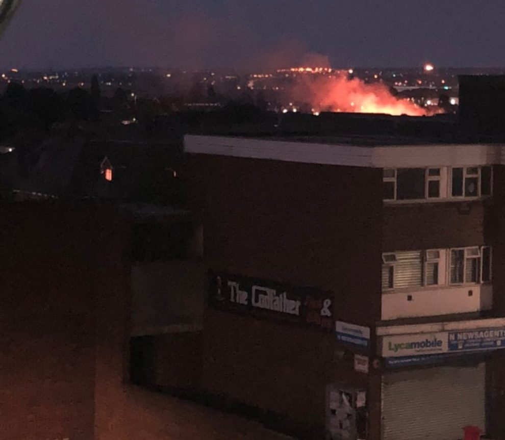 fire crews tackle balcony fire in rochester