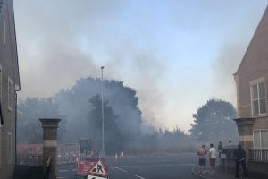 fire crews tackle grassland fire in dartford