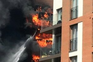 fire destroys five balconies in west hampstead