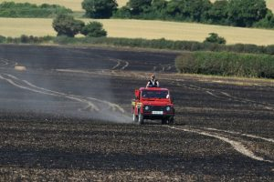 firefighters called to a 60 acre field of standing crops near winchester