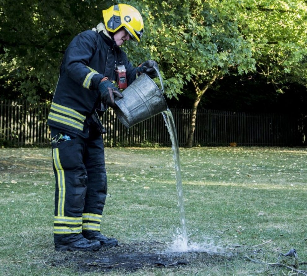 firefighters called to park as cannabis smoking teenagers set fire to grass