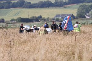 first picture of aircraft crash at bembridge