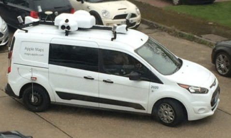 get yourself in the apple maps street view pictures as camera vans visit