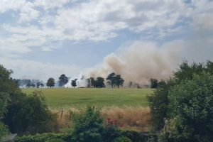 holyport village on lockdown as fire rips fields