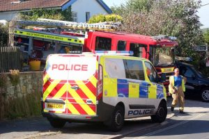 isle of wight fire crews called to fire in the open in brading
