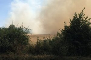 large scale fire rips through stompits road field in maidenhead
