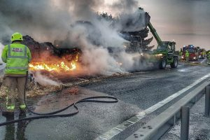 m11 northbound to remain closed all day on friday following hgv fire