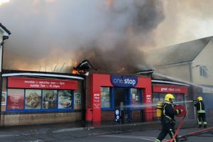 major blaze breaks out at one stop store in swindon