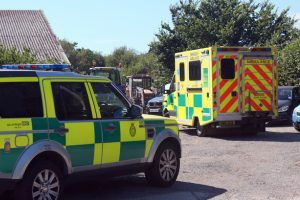 major turnout to two vehicle collision near ryde