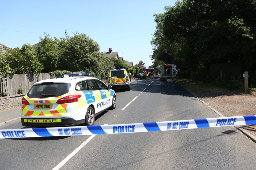 man cut free from head on collision in lake on the isle of wight