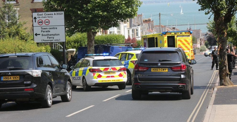 one hurt after ford transit ploughs into a tree in cowes