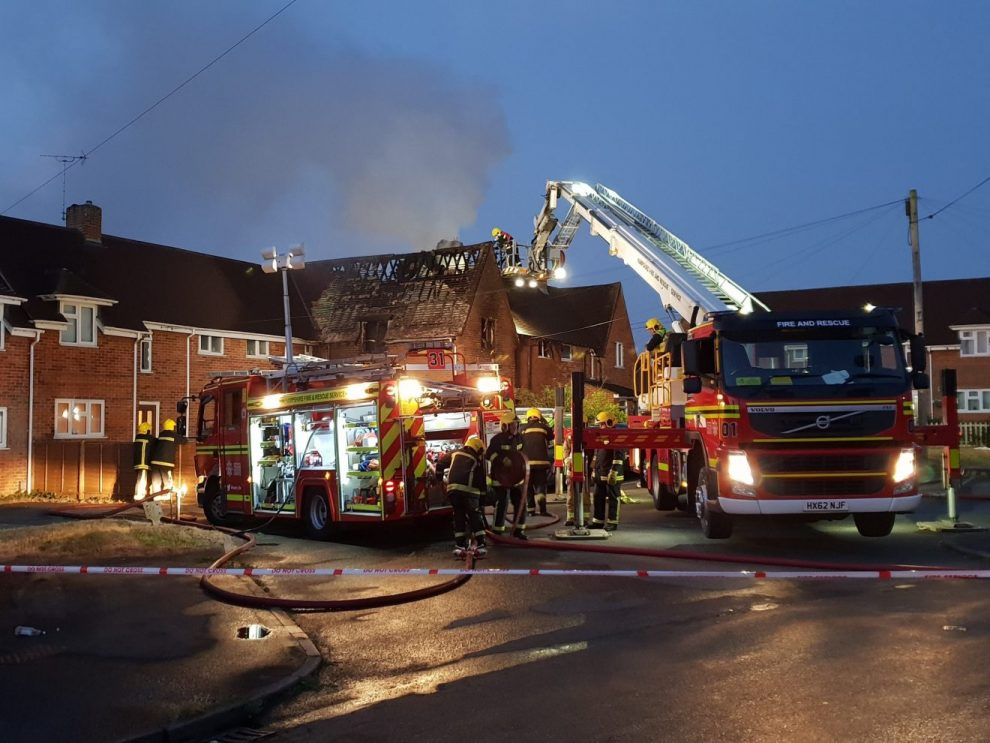 one person rushed to hospital following house fire in andover