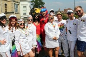 pride of wight 2018 in all of its rainbow finery launch the beach party of the year