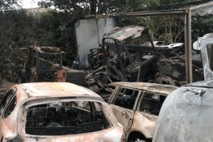 ram raiders fire bomb police recovery yard in fareham