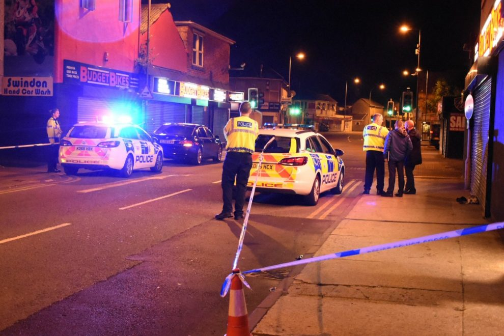 swindon road partially blocked as emergency services attend stabbing in town centre