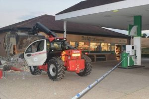 thieves use tractor to rip out atm machine in the west meon