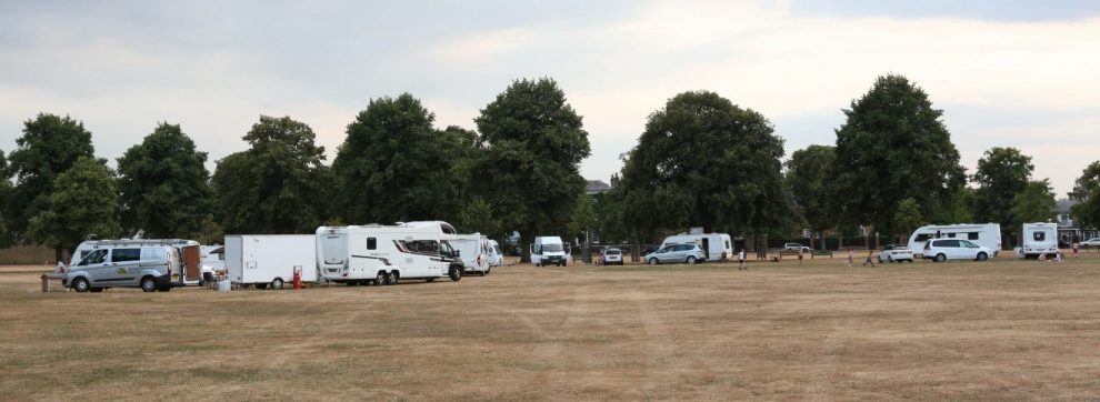 travellers may cause disruption to the upcoming britain in bloom competition in richmond
