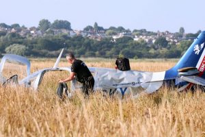 two serious after plane crashes into power cables on the isle of wight