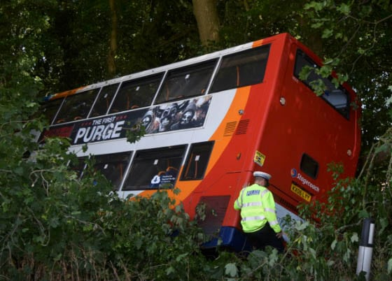 two year old boy hurt in oakley bus collision that left 12 others injured two serious