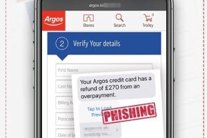 watch out for these fake argos texts offering refunds