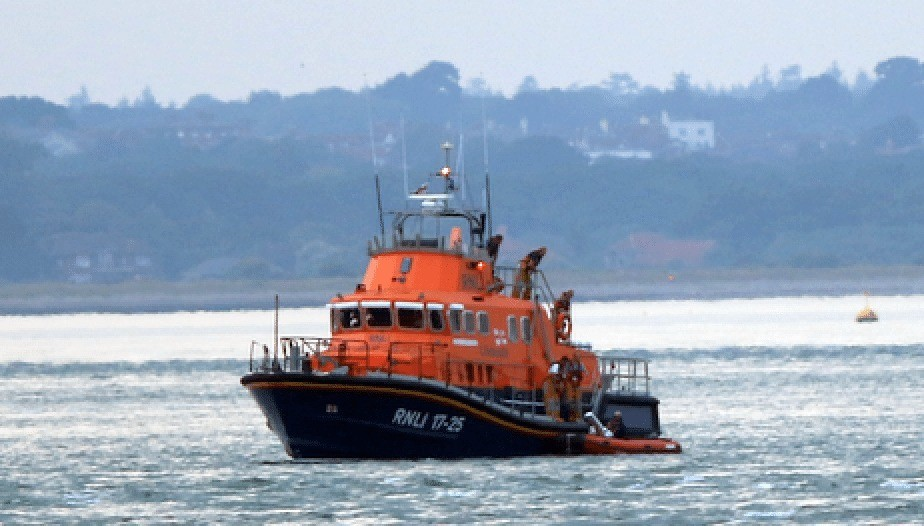 Yarmouth Lifeboat Launched  To Suspected Distressed Paraglider In West Wight